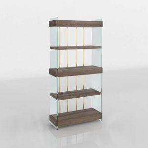 3D Kenmare Wide Bookcase Crate&Barrel