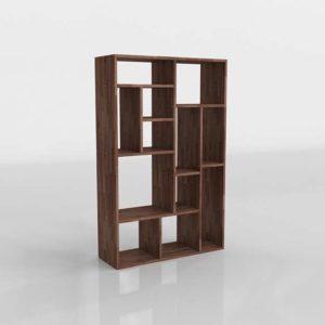 Wastewood Cube Unit Bookcase Perigold 3DFurniture