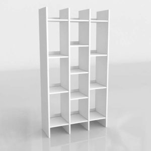 3D Interior Design Shelving and Bookcases GE3D32