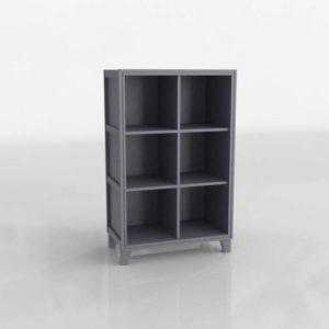 2 In 1 6 Cube Bookcase CrateAndBarrel w 3D