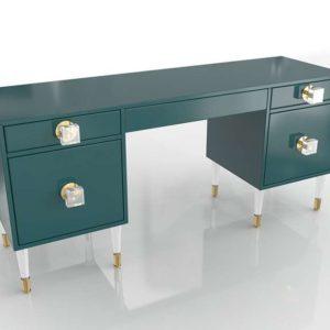 Lacquered Regency Desk Anthropologie in 3D
