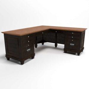 Hartford 2 Toned L Desk Houzz 3D Furniture