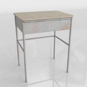 Vintage School Desk Interior 3D Furniture