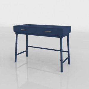 Oslari Painted Desk 3D Model Target