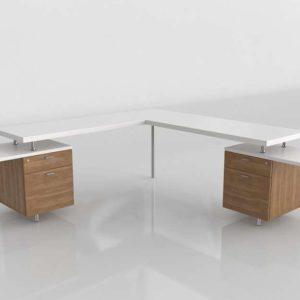 L Shaped Desk Diseno 3D Muebles 3D
