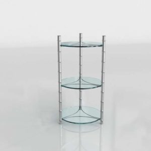 Vintage Round Glass 3D Table
