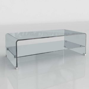 Glass Waiting Room Table 3D Model