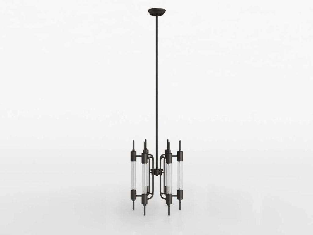 Zuomod Gisborne Ceiling Lamp Distressed Black