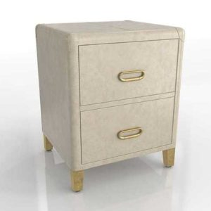 WestElm Atelier Leather Wrapped Nightstand 01