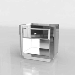 Horchow Hannah Mirrored Side Table