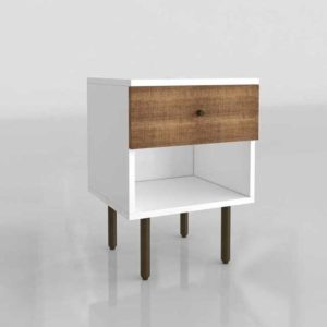 Westelm Reclaimed Wood Lacquer Nightstand