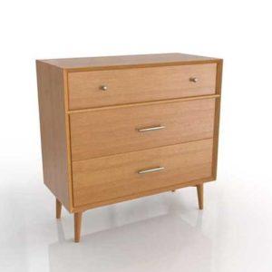 WestElm Mid-Century 3 Drawer Dresser-Acorn