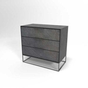 WestElm Slate Industrial 3-Drawer Dresser