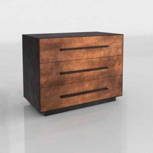 Westelm Massaro 3 Drawer Dresser Copper