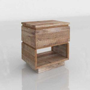 WestElm Emmerson Modern Reclaimed Wood Nightstand
