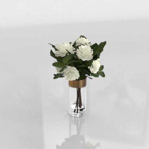 Florero 3D Flores centro de Mesa
