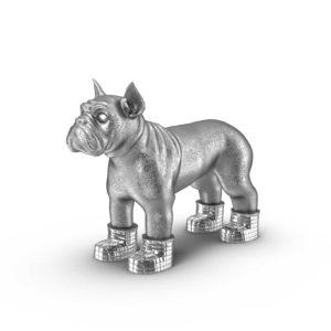 Figura 3D Bulldog Francés Plateado CB2
