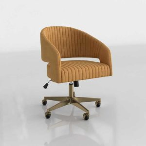 CB2 Channel Suede Office Chair