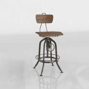 Potterybarn Pittsburgh Chair Steel Mango Wood