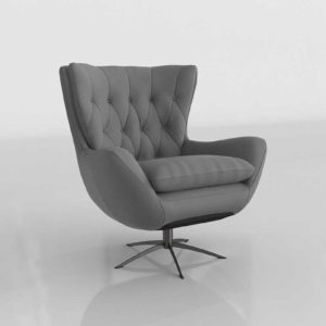 PB Wells Upholstered Swivel Armchair