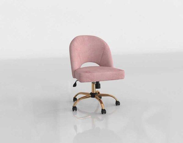 Worldmarket Mauve Velvet Cosmo Upholstered Office Chair