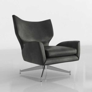 Westelm Hemming Leather Swivel Arm Chair Parc Leather