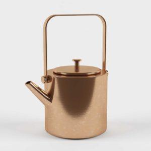 3D Model Copper Teapot Glancing Eye