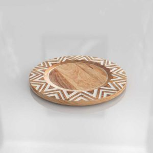 Pier1 Hand Carved Chevron Charger Plate 02