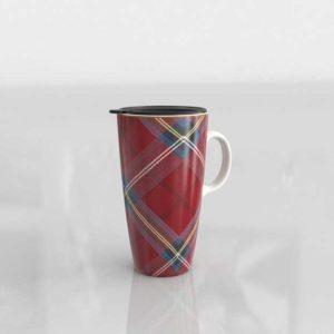WilliamsSonoma Red Plaid To Go Mug