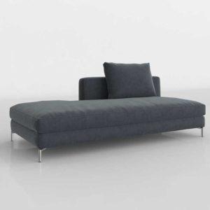 RHModern Viggo Left Open Sofa Vintage Velvet Twilight