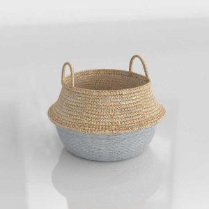 Serenaandlily Round Belly Basket Small Metallic