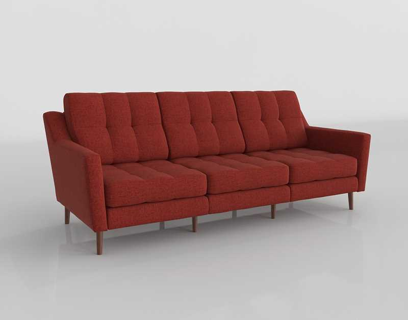 Excellent Burrow Three Seater Sofa With Low Arms Brick Red Machost Co Dining Chair Design Ideas Machostcouk