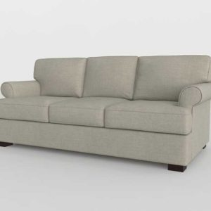 PB Townsend Roll Arm Upholstered Sofa Tweed Taupe