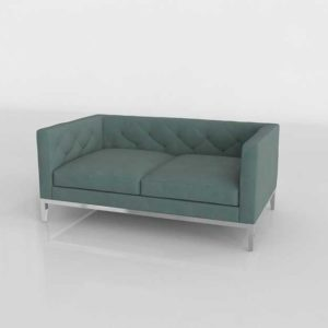 Rhmodern Italia Tufted Shelter Arm Sofa Slate Polished Chrome Base