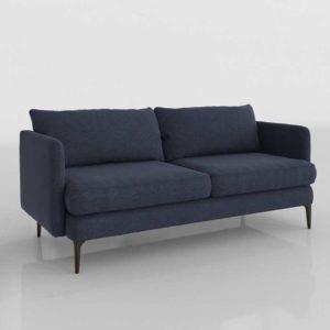 WestElm Auburn Sofa Indigo