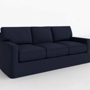 PB Buchanan Square Arm Sofa Cushions Twill Cadet