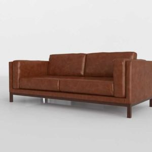 Westelm Dekalb Sofa Weston Leather Molasses