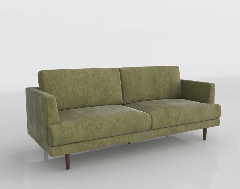 Worldmarket Sage Green Helena Sofa Velvet