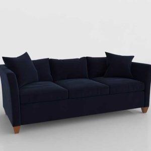 Sofa 3D Clásico Azul Marino con Cojines