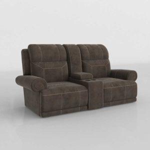 Sofa Reclinable 3D Biplaza con Posavasos