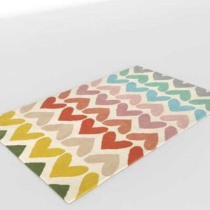 2 CrateAndBarrel Heart To Heart Rug
