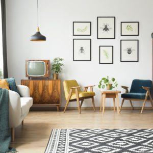 Diseño de interior años 70