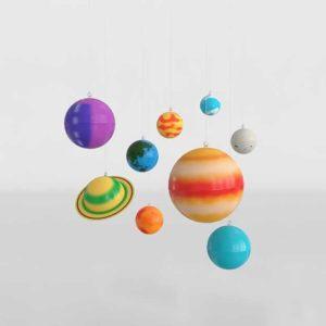 CB University Games Hanging Solar System