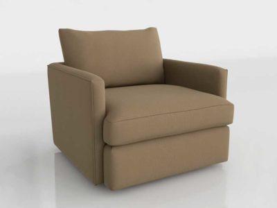 CB Lounge II Petite 360 Swivel Chair Diamond Hemp