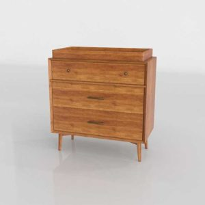 Westelm Mid Century 3 Drawer  Changing Table Acorn