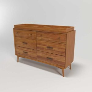 WestElm Mid-Century 6-Drawer Changing Table Acorn