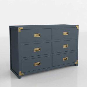 Wayfair Agostino 6 Drawer Double 3D Dresser Graphite