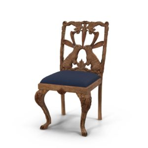 Anthropologie Handcarved Menagerie Rabbit Dining Chair