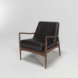 High Fashion Home Braden Leather Chair Durango Smoke
