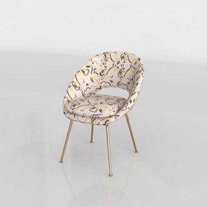 Westelm Orb Upholstered Dining Chair Pop Art Jacquard
